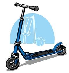 children scooter vector image vector image