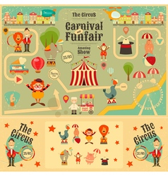Circus funfair and carnival poster vector