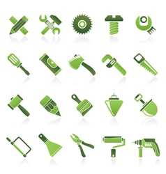 Construction tools object icons vector image vector image