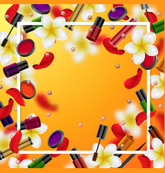 decorative cosmetics make up accessories vector image