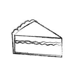 Delicious piece of cake vector