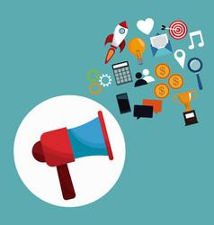 Digital marketing megaphone concept vector