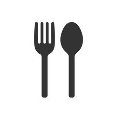 fork and spoon icon restaurant cafe symbol vector image