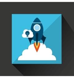 Hand business growth idea cloud vector