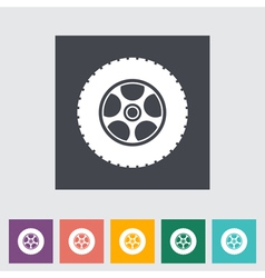 Icon car wheel vector image vector image