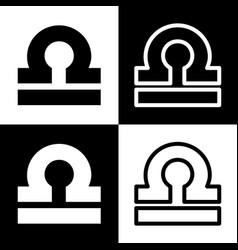 Libra sign black and white vector