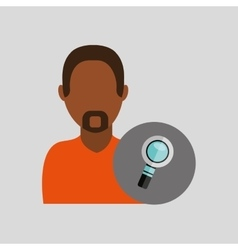 Man african look search icon design graphic vector