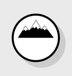 Mountain sign flat black vector