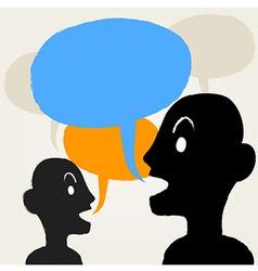 PeopleTalking vector image vector image