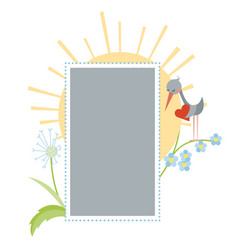 photo frame with stork vector image vector image