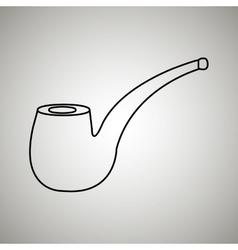 pipe icon design vector image