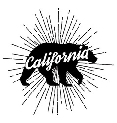 Retro california logo vector