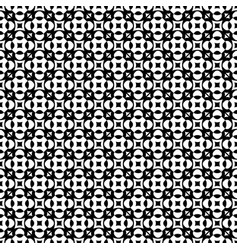 Seamless pattern monochrome geometric ornament vector