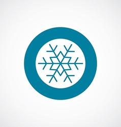 snowflake icon bold blue circle border vector image vector image