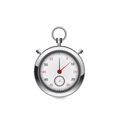 stop watch realistic vector image vector image