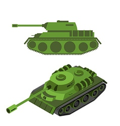 Tank Isometric on white background Army technique vector image vector image