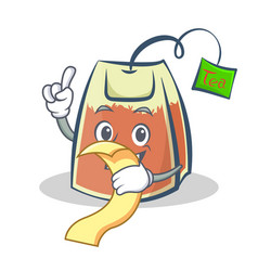 Tea bag character cartoon art with menu vector