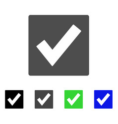 Valid flat icon vector