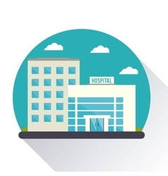 Hospital building clinic design vector