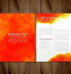 Watercolor brochure flyer design vector