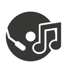 Compact disk with audio icon vector