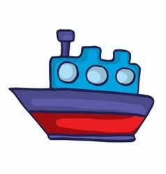 Style ship cartoon collection for kids vector