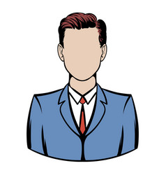 businessman icon cartoon vector image