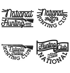 Vintage hunting club emblems vector