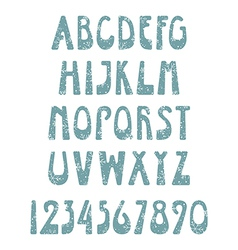 Retro winter font vector