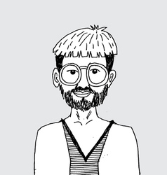 Hipster fashion character people in vector