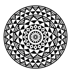 Tribal aztec geometric pattern or print in circle vector image