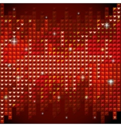 Shiny rhinestone red mosaic background vector image