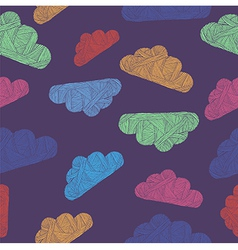 Variegated cloud pattern vector