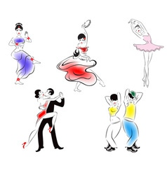 Dance styles vector