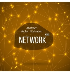 Network connections background with lines vector