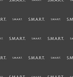 Smart sign icon press button seamless pattern on a vector