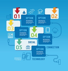 Technology infographics design options banner vector