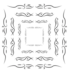 Set of tribal frames with place for your text vector