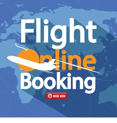 Flight online booking for sale banner vector