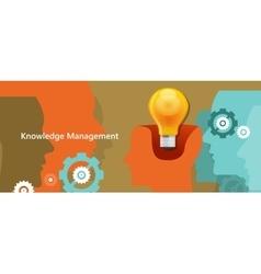 Knowledge management concept idea lamp inside vector