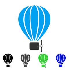 Aerostat balloon flat icon vector