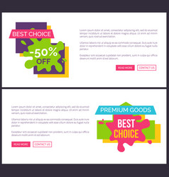 best choice -50 off web on vector image vector image