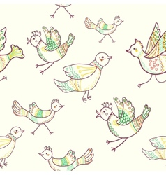 birds seamless vector image