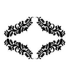 Black floral pattern vector