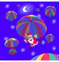 Christmas parachutes vector image
