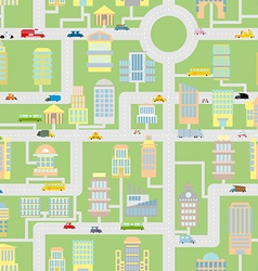 City seamless pattern Modern metropolis with vector image vector image