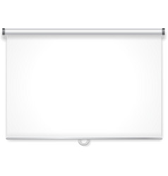 Empty projection screen vector image vector image