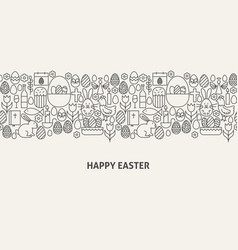 Happy easter banner concept vector