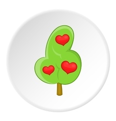 Heart tree icon flat style vector image