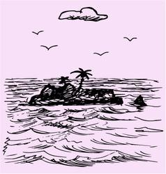 Island ocean vector